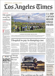 Image result for los angeles times front page