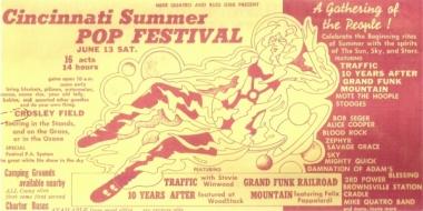 Cincinnati Pop Festival June, 13, 1970 Art20921nar