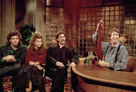 """Mr. Brenner held a tie given to Frank Zappa in 1986, on """"Nightlife."""" Zappa was with his children Dweezil and Moon Unit."""