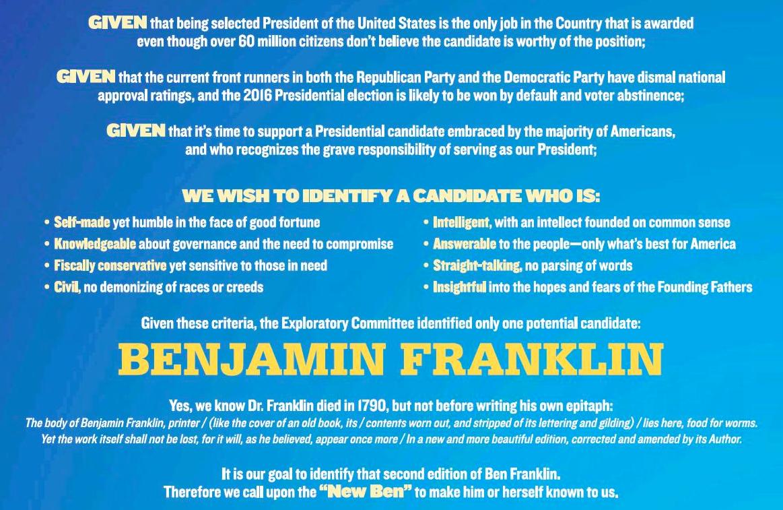 ben franklin common sense